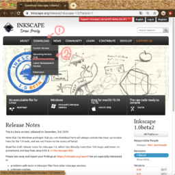 Inkscape 1.0beta2 download page